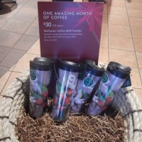 Starbucks: Buy a Holiday Tumbler ($30), get FREE Coffee in January!