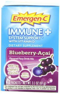 Emergen-C Immune+ System Support with Vitamin D - Blueberry-Acai, 10-count