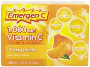 Emergen-C Tangerine, 30-count, Net Wt 9.9 oz