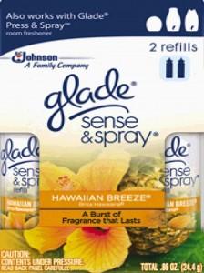 Glade Sense & Spray Refills Twin Pack, Hawaiian Breeze, 0.86 Ounce