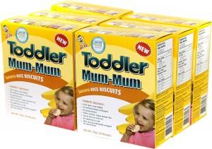 Hot-Kid Toddler Mum-Mum Banana Flavor Rice Biscuit, 20-pieces, (50 g) (Pack of 6)