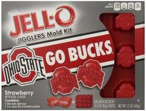 JELL-O Dessert Mold Kit, the Ohio State University, Strawberry, 12 Ounce.