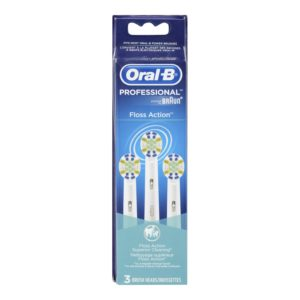 Oral-B Professional Floss Action Replacement Brush Head 3 Count