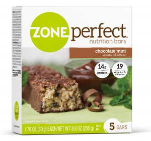 Zone Perfect Nutrition Bar, Chocolate Mint, 1.76oz.- 30 Count