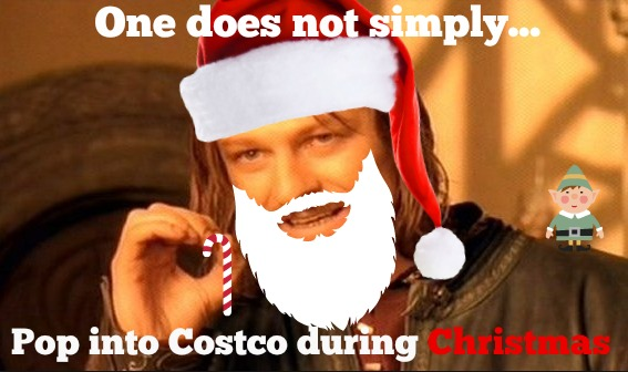 One does not simply... pop into Costco during Christmas