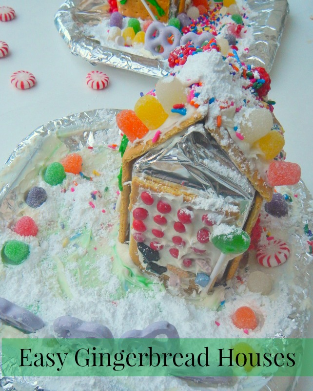 Easy Gingerbread Houses (perfect for small kids!)