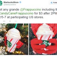 Starbucks: Grande Frappuccino $3 after 2pm, 12/5 -7