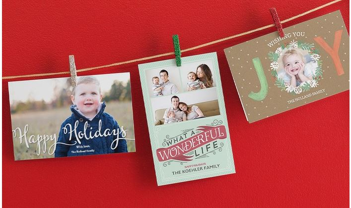 Holiday Card Offers and Coupon Codes – as low as $0.19/card!