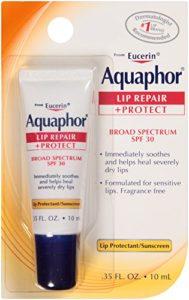 Aquaphor Lip Repair + Protect Lip Balm Sunscreen UVA UVB SPF30, 0.35 oz