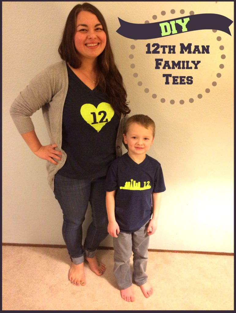 DIY 12th Man Family Tees - Perfect for the Superbowl!