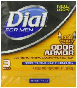 Dial for Men Odor Armor Bar, 3 Count, 4 Ounce Each