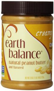 Earth Balance Peanut Butter with Flax Seed, Creamy, 26 Ounce
