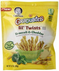 Gerber Graduates Lil Twists Crackers, Broccoli and Cheddar, 3.17 Ounce