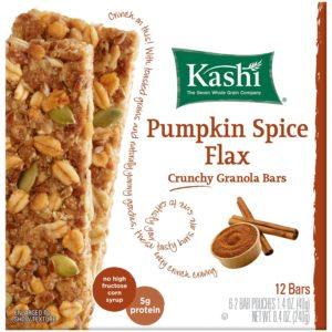 Kashi TLC Crunchy Granola Bar, Pumpkin Spice Flax, 6 - 2 bar pouches, Net Wt. 8.4 Ounce
