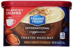 Maxwell House International Cafe-Style Beverage Mix Canister, Toasted Hazelnut Cappuccino, 8.6 Ounce