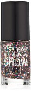 Maybelline New York Color Show Jewels Nail Lacquer Top Coat, Mosaic Prism, 0.23 Fluid Ounce