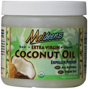 Meldeens Raw Organic Extra Virgin Expeller Pressed Coconut Oil, 14-Ounce Jar