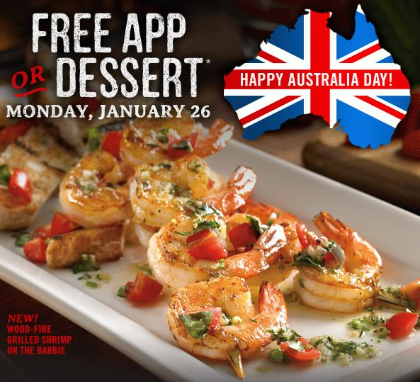 Outback Steakhouse free app or dessert