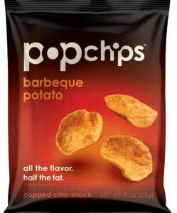 Popchips potato chips BBQ, single serve 0.8 Ounce (Pack of 24)