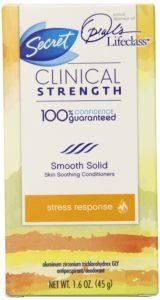 Secret Clinical Strength Stress Response Women's Advanced Solid Serene Citrus Scent Antiperspirant & Deodorant 1.6 Oz
