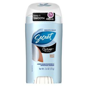 Secret Outlast & Olay Women's Smooth Solid Sport Fresh Scent Antiperspirant & Deodorant 2.6 Oz