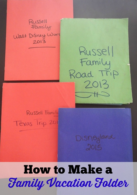 How to Make a Family Vacation Folder - Simple Organization Idea to make your next trip stress-free!