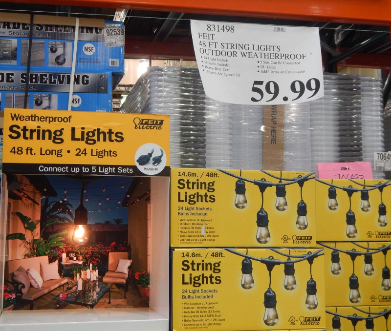 Solar Outdoor String Lights Costco: Outdoor String Lights Led Costco Inspirational