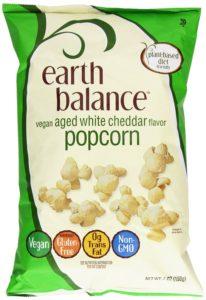 Earth Balance Gluten Free Vegan Aged White Cheddar Popcorn, 7 Ounce