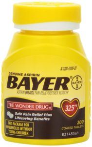 Genuine Bayer Aspirin 325mg Tablets 200 Coated Tablets