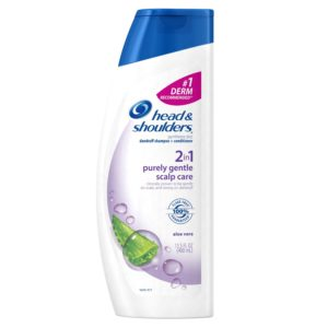 Head & Shoulders Purely Gentle Scalp Care 2-in-1 Dandruff Shampoo + Conditioner 13.5 Fl Oz (Product Size May Vary)