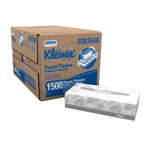 Kimberly-Clark Kleenex 03076 Facial Tissue Convenience Pack, 8-25 64 Length x 8-3 16 Width, White (12 Boxes of 125)