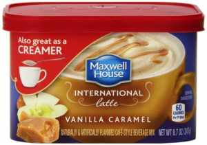 Maxwell House International Cafe-Style Beverage Mix Tub, Vanilla Caramel Latte, 8.7 Ounce