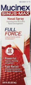 Mucinex Sinus-Max Full Force Nasal Decongestant Spray, 0.75 Ounce