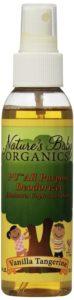 Nature's Baby Organics PU All Purpose Deodorizer, Vanilla Tangerine, 4-Ounce Bottles (Pack of 2)