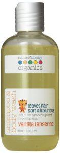 Nature's Baby Organics Shampoo & Body Wash, Vanilla Tangerine, 8-Ounce Bottles (Pack of 2)