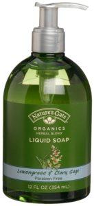 Nature's Gate Organics Liquid Hand Soap, Lemongrass & Clary Sage, 12-Ounce Bottles (Pack of 3)