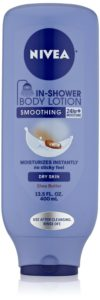 Nivea Body In-Shower Smoothing Body Lotion for Dry Skin, 13.5 Fluid Ounce