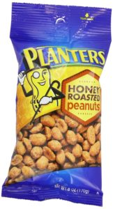Planters Peanuts, Honey Roasted, 6-Ounce (Pack of 12)