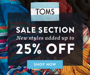 TOMS is a major shoe brands retailer which operates the website seusinteresses.tk of today, we have 4 active TOMS promo codes, 2 personal referral codes, single-use codes, 5 sales and 14 third-party deals. The Dealspotr community last updated this page on December 2, On average, we launch 34 new TOMS promo codes or coupons each month, with an average discount of 21% off and an /5(20).