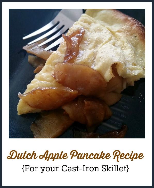 Dutch Apple Pancake Recipe {for your Cast-Iron Skillet}