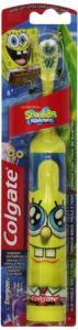 Colgate Kids Sponge Bob Powered Toothbrush, Extra Soft Bristles, Colors and Styles May Vary