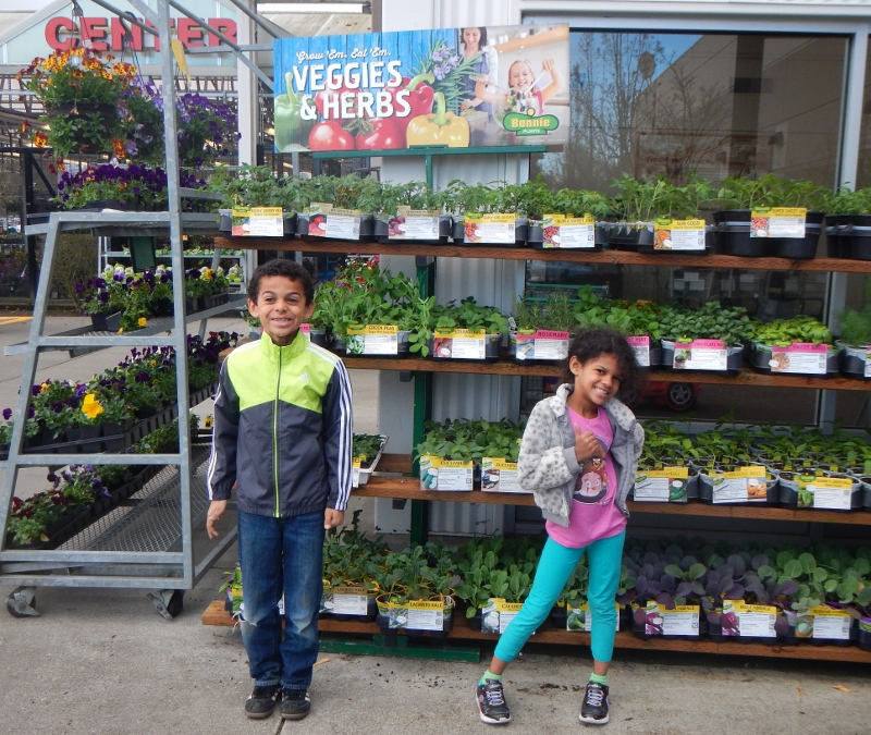 Kids and vegetable gardens.