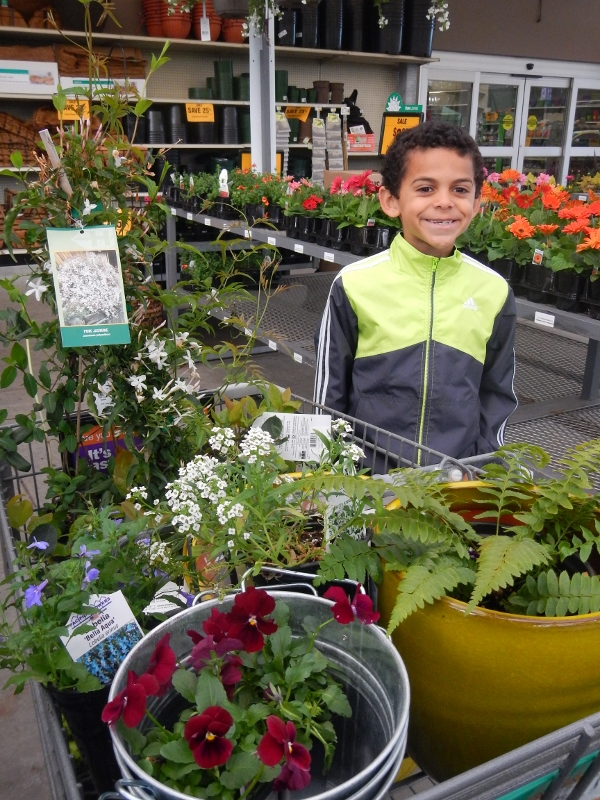 Let your children make some of the decisions on plants in your garden.
