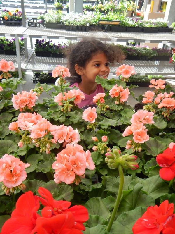 Kids love flower gardens!