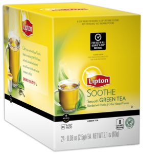Lipton K-Cup Packs, Soothe Green Tea, 24 Count