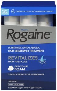 Rogaine for Men Hair Regrowth Treatment, 5 Minoxidil Topical Aerosol, Easy-to-Use Foam, 2.11 Ounce, 3 Month Supply (Packaging May Vary)