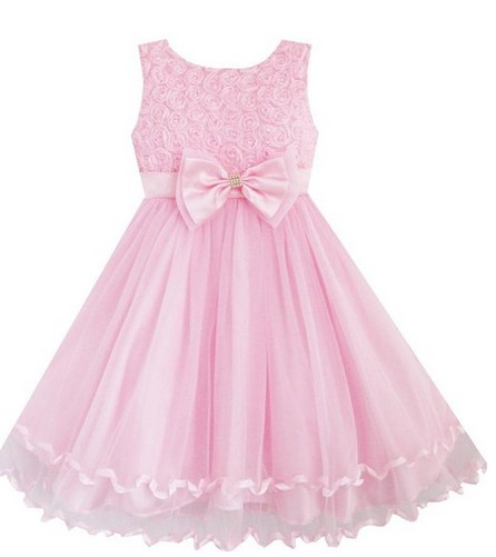 Easter Dress Pink with Bow