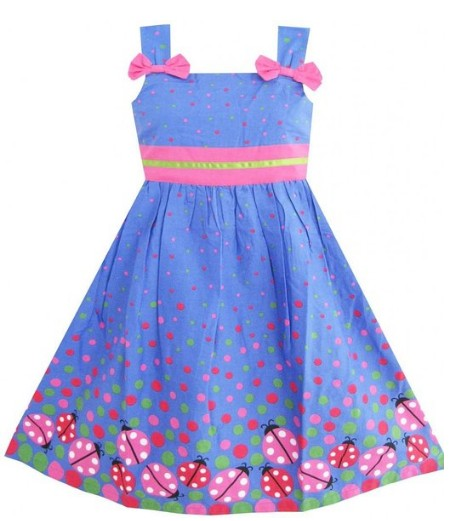 Easter Dress with Bugs and Dots