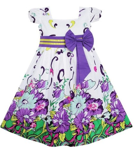 Easter Dress with Flowers & Bow