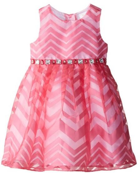 Easter Dress Pink Chevron